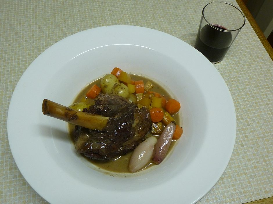 Lamb Shank with Root Vegetables